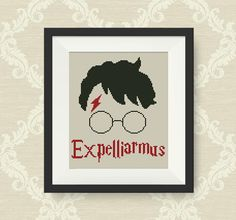 Expelliarmus cross stitch pattern, Harry Potter Spells cross stitch pattern, PDF counted cross stitch pattern, Harry Potter, Hogwarts, P179 by NataliNeedlework on Etsy