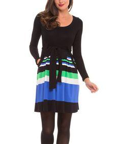 Loving this Black Stripe Maternity Dress on #zulily! #zulilyfinds