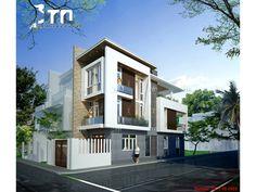 View 2: Mẫu thiết kế nhà phố 3 tầng 90m2 ở Thanh Hoá