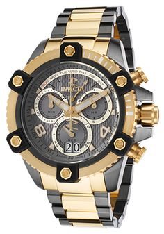 Invicta 12984 Watches,Men's Reserve Chrono Two-Tone SS Gunmetal Dial, Luxury Invicta Quartz Watches