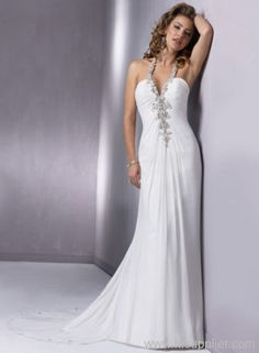 35a1592104 Gossamer Chiffon is ruched toward an extraordinarily beaded