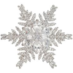 CHRISTMAS CRYSTAL SNOWFLAKE BROOCH PIN PENDANT MADE WITH SWAROVSKI ELEMENTS #Unbranded