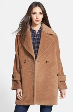 Trina Turk 'Nancy' Double Breasted Wool & Alpaca Blend Coat - nordstrom