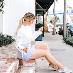 who says dressing cute can't be comfy ♡ ps.would you rather wear heels or flats? also, new vlog is going up! White Aesthetic, Aesthetic Photo, Mini Skirt Dress, Mini Skirts, Youtube Alisha Marie, Alisha Marie Instagram, Summertime Sadness, Best Youtubers, Girly Outfits