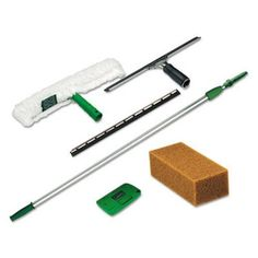 Dislodge most of the dirt particles found on your windows using Unger Pro Window Cleaning Kit. Includes pole, strip washer, squeegee, scraper and sponge. Safe Cleaning Products, Cleaning Kit, Cleaning Supplies, Glass Cleaning, Professional Window Cleaning, Window Cleaning Tools, Stainless Steel Channel, Washing Windows, Telescopic Pole