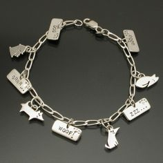 Good+Dog+charm+bracelet+with+9+charms+por+oneeyedcollie+en+Etsy,+$88.00
