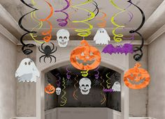 Halloween Hanging Swirl Decorations pack) by Amscan Cheap Halloween Decorations, Hallowen Ideas, Halloween Party Supplies, Halloween Party Decor, Halloween Gifts, Spooky Halloween, Baby Halloween, Halloween Themes, Halloween 2013