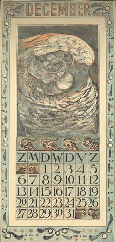 Theodoor van Hoytema, calendar 1908 december