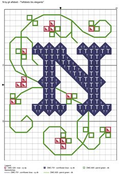 alfabeto blu elegante N
