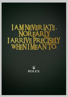 Rolex ad + Lord of the Rings