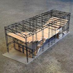 #model #modelo #estructural Nicolas Zuñiga #galeria de #barrio #barrioyungay #comunidad #multiusos #multiproposito 📷: @taller4_faup_ucen