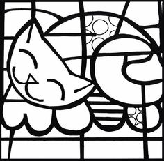 romero britto colouring pages
