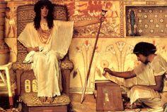 5 - Lawrence Alma-Tadema:Joseph Overseer of the Pharoahs Granaries-1874
