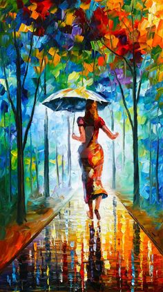 This is an oil painting on canvas by Leonid Afremov made using a palette knife only. You can view and purchase this painting here - afremov.com/RUNING-TOWARDS-LOV… Use 15% discount coup...