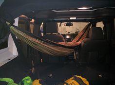JKU interior hammock #jeep #jeeplife #Wrangler #jeeps #Cherokee #JeepMafia #offroad #4x4