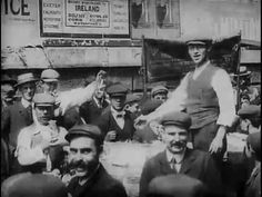 """""""Petticoat Lane"""" Silent film of a Cockney London market street. It seems strange to look in the faces of people who lived so long ago. London History, British History, Vintage London, Old London, London Market, East End London, Green Pictures, Silent Film Stars, National Archives"""