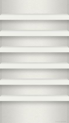 iPhone 6 用壁紙 棚 レザー白