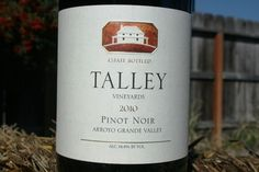 Wild Game Wine- Talley Pinot Noir 2010 Arroyo Grande Valley Review