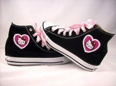 2aaabc7a8ab I found  Adult Custom Chuck Taylor Hello Kitty Converse by kustomkicks  on  Wish