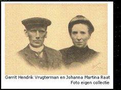 Text Box:    Gerrit Hendrik Vrugterman en Johanna Martina Raat  Foto eigen collectie
