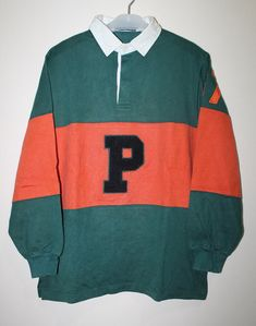 Vintage Polo Ralph Lauren Big P 67 Rugby Shirt Stadium Sportsman P wing  Spell Out 0429bbc75cf1