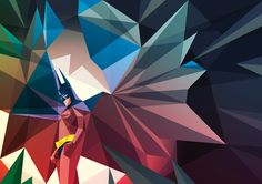 {Cave-Man} awesome fractal Batman wallpaper art by Liam Brazier