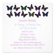 Pretty Butterfly Invitations