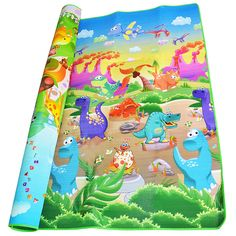 0.5cm Double-Side Baby Crawling Play Mat Dinosaur Puzzle Game Gym Soft Floor Eva Foam Children Carpet for Babies KidsToys