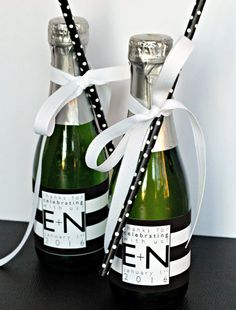 Time to Drink Champagne & Dance on the Table. Mini Champagne Bottle ...
