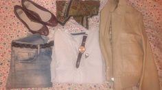 HyM jeans, Zara shirt, Uterqüe watch, Bimba y Lola ring, Tommy Hilfiger coat and Pull and bear shoes
