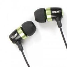 iggual Auricular+Mic Intrauditivo Negr/Verd 3.5mm Headphones, Electronics, Ear Phones, Headset