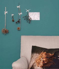 The Flexa trendcolour for Teal Coral, Turquoise, Colour Schemes, Color Trends, Design Trends, Living Room Inspiration, Color Inspiration, Wall Colors, Paint Colors