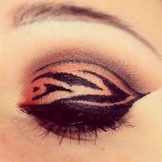 Slightly tiger inspired makeup--may be able to wear for whole show ...