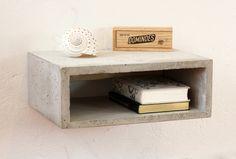 Nachtschränke - Schwebender Beton Nachttisch Concrete Nightstand - ein Designerstück von Kardamov bei DaWanda