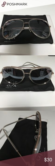 Quay Needing Fame Suglasses I bought these here EUC, and they're just too big for my face 😬 so cute though! My loss! No scratches or signs of use; comes with bag! Quay Australia Accessories Sunglasses