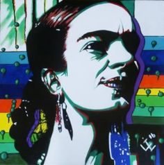 Comission 2/10 paintings - Psychedelic Frida