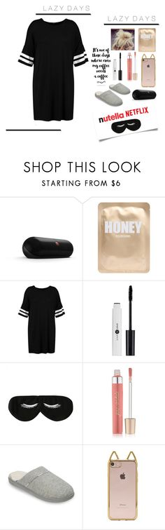 """""""LaZy DaYs"""" by classystyleer ❤ liked on Polyvore featuring Beats by Dr. Dre, Lapcos, Boohoo, BaubleBar, Jane Iredale, Dearfoams and Forever 21"""