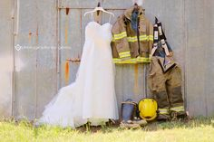 Fire Fighter Themed Wedding Ideas - Photography by Gema