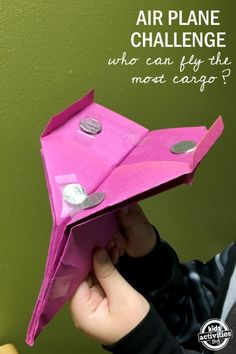 STEM Paper Airplane Challenge: Kid's engineering challenge. Who can fly the most cargo? Kid's activities