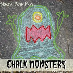 Have students draw chalk monsters on school sidewalks. Take digital pics and use for digital storytelling on iPad using Videolicious or book creator.