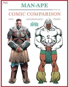 """3,458 Likes, 35 Comments - • Accurate.MCU • mcu fanpage (@accurate.mcu) on Instagram: """"• MAN-APE - COMIC COMPARISON • I can't wait for black panther. I am mostly looking forward to the…"""""""