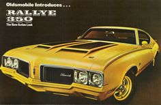 Oldsmobile Rallye 350 Front View 1970 - www.MadMenArt.com | Vintage Cars Advertisement. Features over 1200 of the finest vintage cars until 1970. Status symbol, pride and sense of freedom. #VintageCars #Vintage #Ads #VintageAds