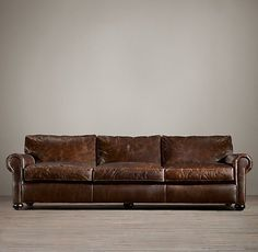 RH's Original Lancaster:Restoration Hardware features a wonderful selection of leather sofas created with a devotion to comfort and cush.  We feature a variety leather sleeper sofas and leather sectional sofas that are guaranteed to  provide you with comfort beyond compare.