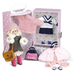 Petitcollin Girls Camille Doll & Wardrobe Set    AlexandAlexa