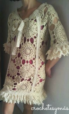 crochetesymas: The fellowship of the tete Miguel!! Doily DRess