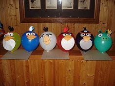 Angry bird balloons @Michelle Nieman