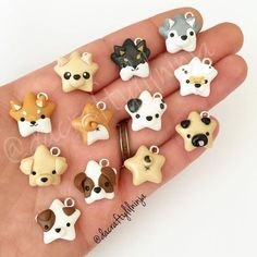 ave a happy Howl-oween tomorrow! 🐶🎃🐶 I used to make custom doggies and different breeds way back when I first started up clay. Polymer Clay Kunst, Polymer Clay Miniatures, Fimo Clay, Polymer Clay Projects, Polymer Clay Charms, Polymer Clay Creations, Polymer Clay Jewelry, Clay Crafts, Clay Earrings