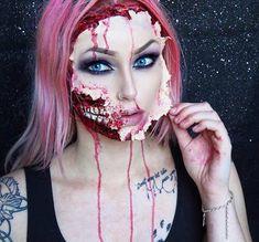 Ripped Face Halloween Makeup Look
