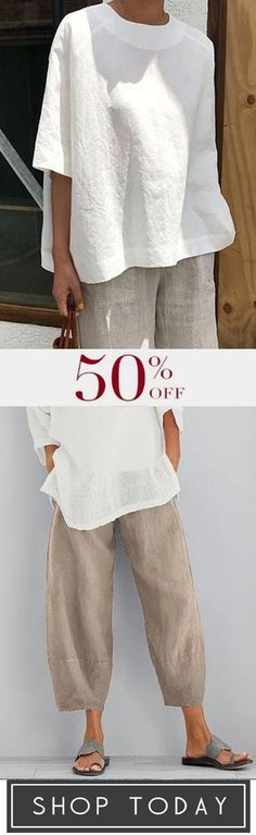 Comfy & Loose Style Women Clothes Comfy & Loose Style Women Clothes The post Comfy & Loose Style Women Clothes appeared first on Kleidung ideen. Women's Fashion Dresses, Fashion Pants, Linen Dresses, Dresses With Sleeves, Summer Outfits, Casual Outfits, Casual Clothes, Comfy Clothes, Kleidung Design