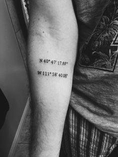 Coordinates Tattoo (Salt Lake City Coordinates)  Convicted Ink Tattoo // Orem, Utah - USA